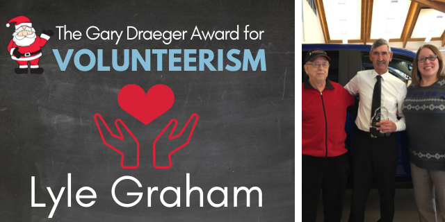 Gary Draeger Award for Volunteerism: 630 CHED Santas Anonymous
